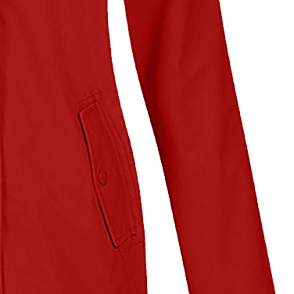 Giacca impermeabile da donna con cappuccio LILIGOD impermeabile con chiusura lampo a tinta unita lunga e antivento M Gelb