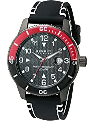 Sperry Top-Sider Mens 10014891 Diver Stainless Steel Watch With Black Silicone Band