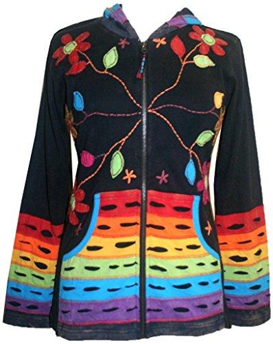 RJ 309-2 Rainbow Rib Cotton Bohemian Jacket (Multi M) by Agan Traders