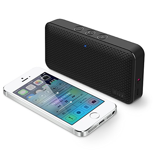 iLuv Aud Mini Ultra Slim Pocket-Sized Powerful Sound Bluetooth V4.1 Speaker for iPhone, iPad, Samsung GALAXY, Note, Tablet, LG, Google Phones, other Bluetooth Devices and Echo Dot (Black)