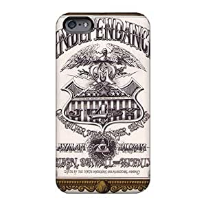 Shockproof Hard Phone Case For Iphone 6 With Support Your Personal Customized Trendy Grateful Dead Image KaraPerron