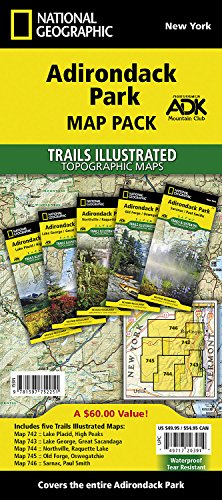 Adirondack Park [Map Pack Bundle] (National Geographic Trails Illustrated Map) Adirondack High Peaks Map