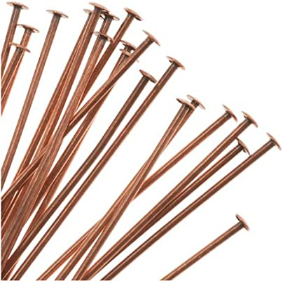 Beadaholique Genuine Antiqued Copper Head Pins 22 Gauge 2 Inches 24