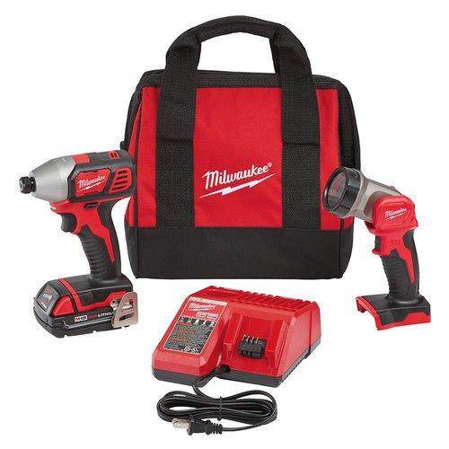 Milwaukee Electric Tools 2656-21L M18 Impact Driver & LED Work Light Special Kit