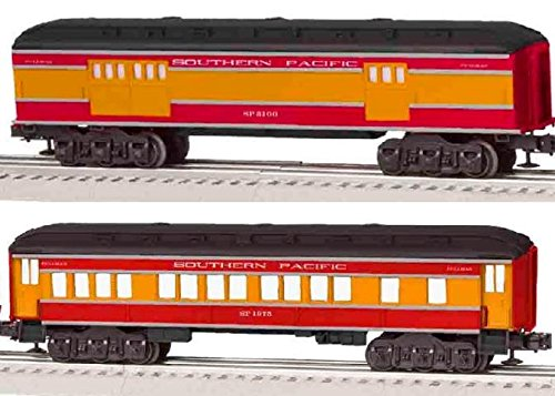 Lionel Southern Pacific Coach/Baggage Baby Madison Passenger Car (2 Pack)