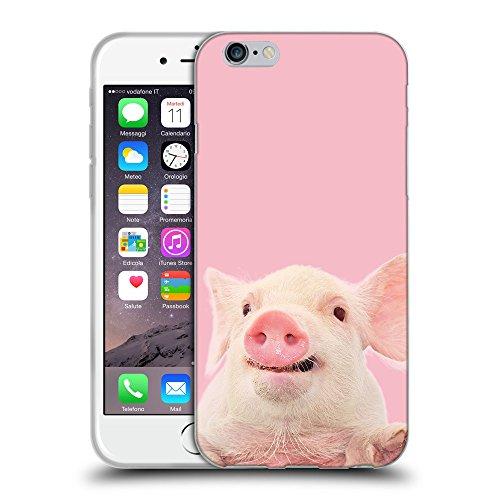 GoGoMobile Coque de Protection TPU Silicone Case pour // Q05730630 Cochon mignon Rosa // Apple iPhone 7