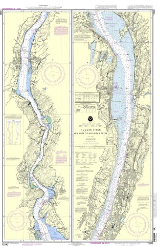 NOAA Chart 12343: Hudson River New York to Wappinger Creek (Hudson River Map)