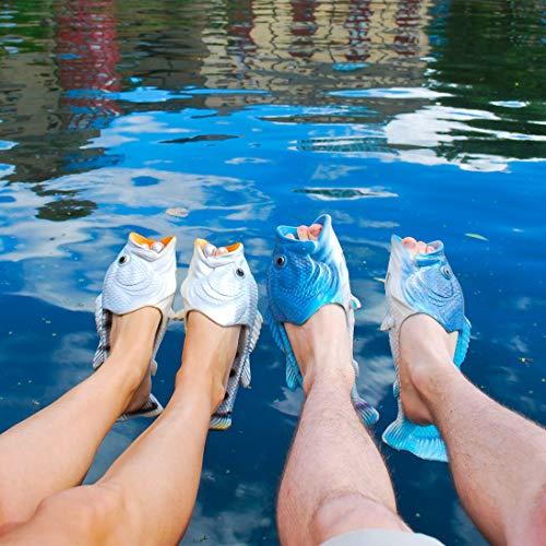 E Coddies Casual Spiaggia Infradito Classici Per Sandali Doccia Pantofole A Pesce Bambino Donna Infradito Argento Da Scarpe Uomo q7Uq1gA