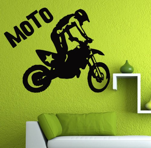 Dirt Bike Moto MX Vinyl Decal Sticker / 28