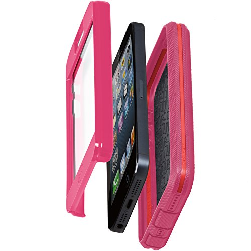 iPhone 5 Tough Xtreme Cases - Olo by Case-Mate - Lipstick Pink/Flame Red