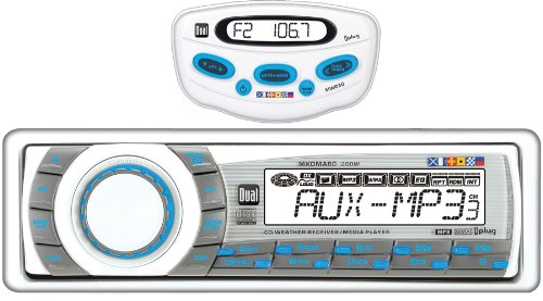 - Dual MXDMA8030 In-Dash Marine AM/FM/CD/MP3/iPod/Aux Receiver with MWR30-Wired Remote Control