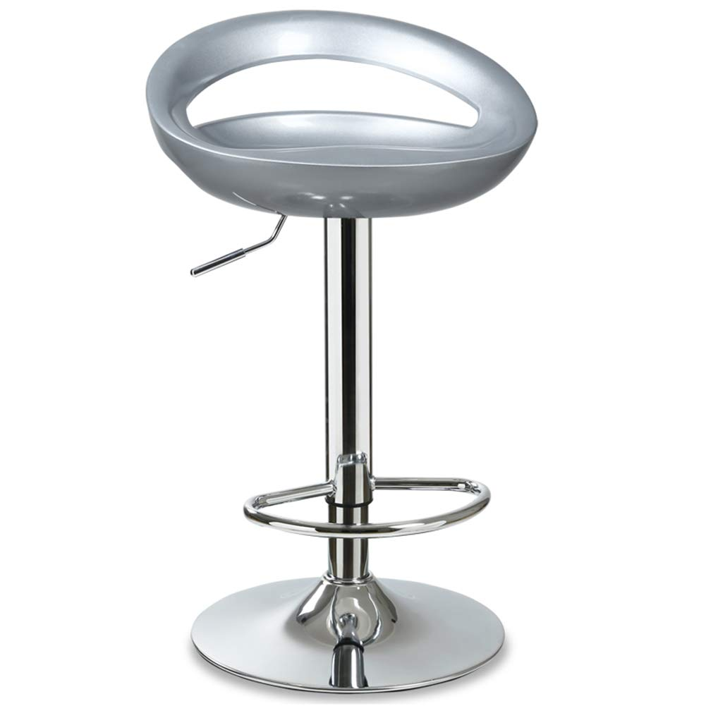 ZHAOYONGLI-stools Footstool Work Stool Beauty Stool Shower Stool Step Stool Wooden Stool High Stool Lift Rotate Footrest Backrest ABS Creative Solid Durable Long Lasting (Color : High-Silver Gray)