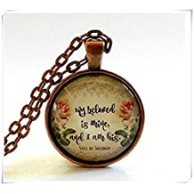 Christian Gift Jewelry , My Beloved , Glass Jewelry Pendant Necklace,