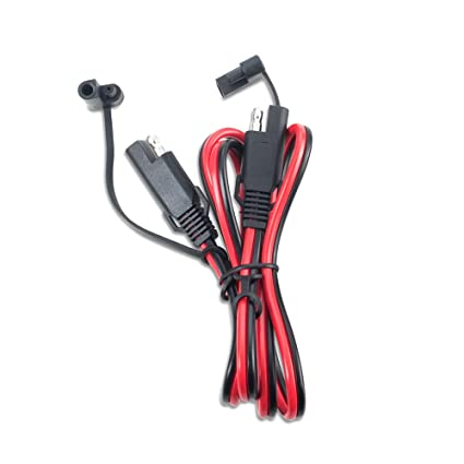 amazon com 3ft sae to sae 2 pin extension cable dc power 18awg sae 2 pin extension cable dc power 18awg heavy duty battery quick disconnect connect wire harness sae connectors dust cap black automotive