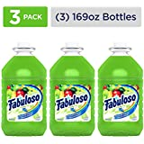 FABULOSO All Purpose Cleaner, Passion Fruit, Bathroom Cleaner, Toilet Cleaner, Floor Cleaner, Glass Cleaner, Washing Machine and Dishwasher Surface Cleaner, Mop Cleanser, 169 Ounce (Pack of 3) (MX04966A)