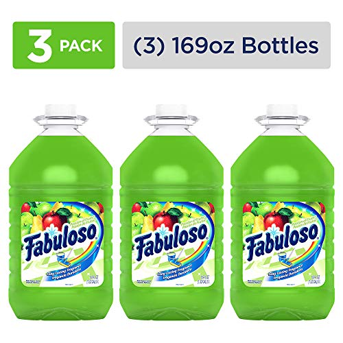 FABULOSO All Purpose Cleaner, Passion Fruit, Bathroom Cleaner, Toilet Cleaner, Floor Cleaner, Washing Machine and Dishwasher Surface Cleaner, Mop Cleanser, 169 Ounce (Pack of 3) ()