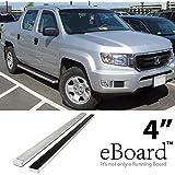 """eBoard Running Boards Aluminum 4"""" For 06-12 Honda Ridgeline Nerf Bars Step Bars Side Steps"""