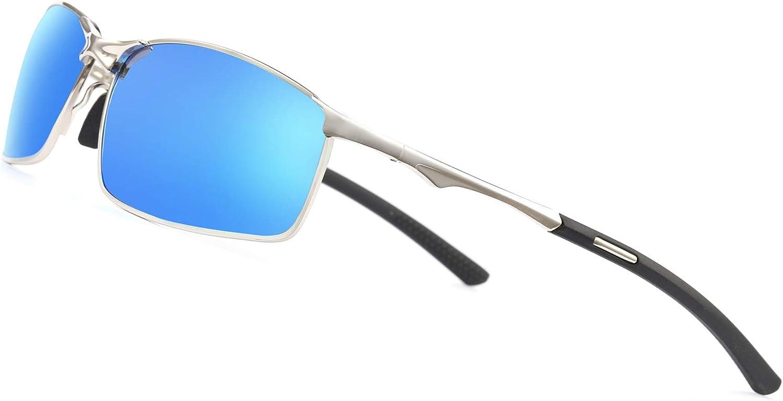 AORON Lunettes de soleil polaris/ées Lunettes de protection pour sports de plein air pour hommes Protection contre les rayons UV Lunettes de conduite
