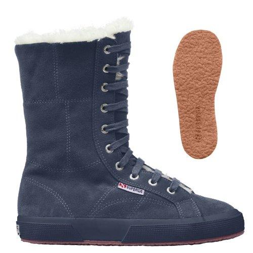 Superga 2040-suebw, Sneaker mit Stehkragen Damen, blau - blu (Full Blue) - Größe: 40 (6.5 uk)