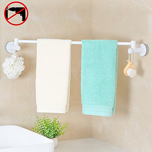 HOOMTAOOK Towel Bar Rack Super Power Vacuum Suction No Drill