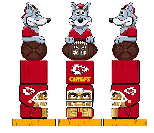 Team Sports America NFL Kansas City Chiefs Tiki Totem (Best Outlet Mall In Kansas City)
