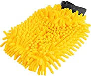 Luva para Limpeza Automotiva de Microfibra Multiuso Amarela Vonder - 6364025180