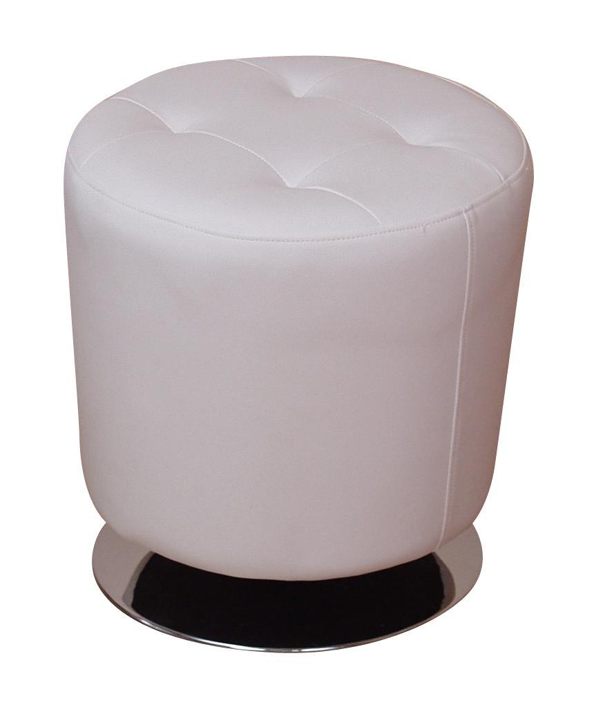 Heinz Hofmann 4442.CPW Lounge Sitzhocker / Kunstleder / Weiß / Höhe 45 Cm,  Durchmesser 43 Cm: Amazon.de: Küche U0026 Haushalt