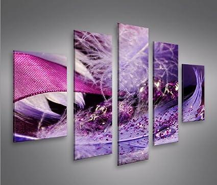 Feather MF 5 Quadri moderni su tela - pronti da appendere - montata ...