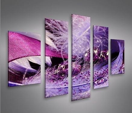 Feather MF 5 Quadri moderni su tela - pronti da appendere ...