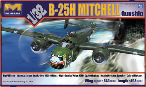 HK MODELS 1/32 B-25H Mitchell 'Gun Ship' HK-01E03