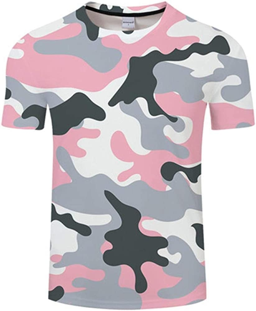 T Shirts Men 3D T-Shirt Men Tshirt Camouflage Short Sleeve Fitness Tights Quick Dry Camo T Shirts Tops Tees Training Compression Top A