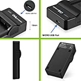 OAproda 2 Pack EN-EL20 Battery and New Upgraded Micro USB Charger for Nikon Coolpix A, Nikon 1 AW1, Nikon 1 J1, Nikon 1 J2, Nikon 1 J3, Nikon 1 S1, Nikon 1 V3 , and Blackmagic Pocket Cinema Camera