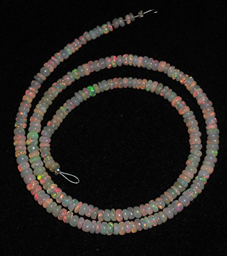 AAA Ethiopian Opal Smooth Rondelle loose gemstone Beads 3-6mm 16''inches by Vintagegems