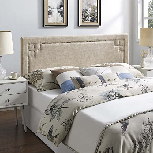 Modway Josie Headboard Upholstered Fabric, Queen, Beige