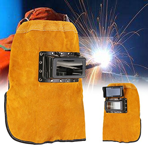 New Leather Hood Welding Helmet Mask Darkening Filter Lens Welder Eyes Protection bsx welding helmet esab pancake hood tweco tillman sentinel a50 stallion wel-bilt auto-darkening Viking (Z Best Leather Cleaner)