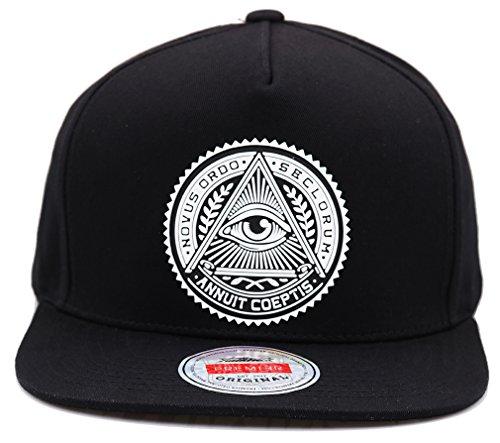sujii ILLUMINATI EYE Snapback Hat Baseball Cap Trucker Hat -  Archetype Black  Amazon.co.uk  Clothing 1d30f8c94f0