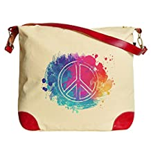 Vietsbay Peace Symbols Printed Casual Canvas Tote Shoulder Bags WAS_33