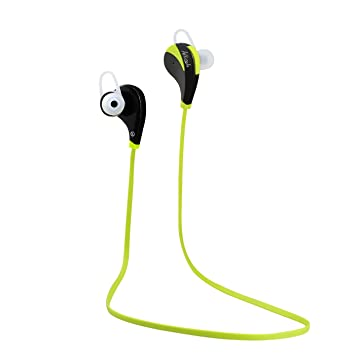 Allezola Auriculares Deportivos Bluetooth 4.0 In-ear Estéreo para Correr Gym con Mic Compatible con iPhone 5/5s 6/6s Ipad Samsung Andriod Moviles Verde: ...