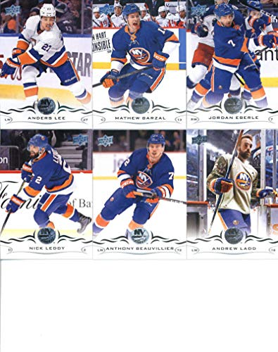 (2018-19 Upper Deck Series 1 and 2 Hockey Complete New York Islanders Team Set of 13 Cards: Andrew Ladd(#114), Anthony Beauvillier(#115), Nick Leddy(#116), Jordan Eberle(#117), Mathew Barzal(#118), Anders Lee(#119), Thomas Greiss(#365), Robin Lehner(#366), Valtteri Filppula(#367), Leo Komarov(#368), Josh Bailey(#369), Brock Nelson(#370), Ryan Pulock(#371))
