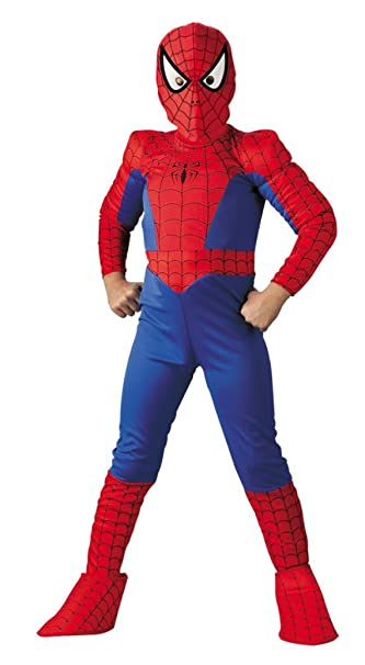 boys spiderman ch deluxe kids child fancy dress party halloween costume l 12