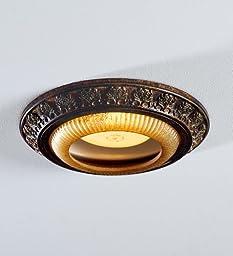 Acanthus Leaves Recessed Light Cap Ring, in Decorative Bronze