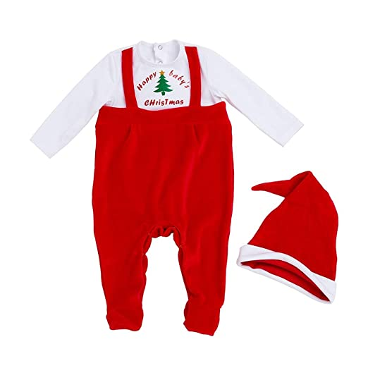 c447ecfcf2d98 Baby Boys Girls 2Pcs Christmas Custome My First Christmas Outfits Onesies  Jumpsuit Footies Wamer Romper Clothes