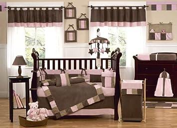 Superior Sweet Jojo Designs Modern Soho Pink And Brown Baby Girl 9pc Crib Bedding Set