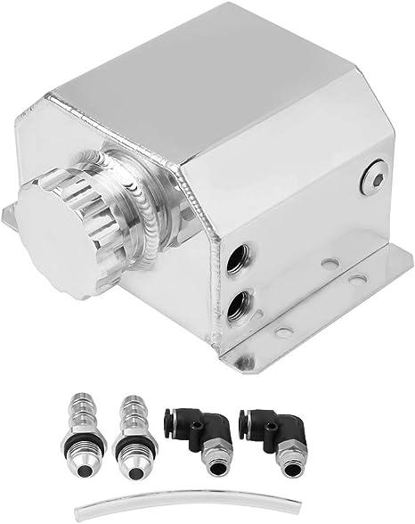 KIMISS Motore in lega di alluminio Serbatoio olio universale Serbatoio traspirante Serbatoio filtro di scarico gas di scarico argento