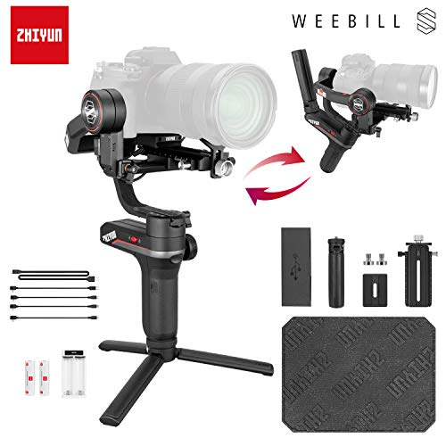 Zhiyun WEEBILL S 3-Axis Handheld Gimbal Stabilizer for Mirrorless Cameras,Smartphone,300% Improved Motor Than Zhiyun Weebill Lab,Max Support 3KG (Standard Package)