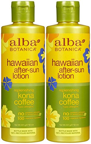 Alba Hawaiian After Sun Lotion Kona Coffee (Alba Botanica Hawaiian After-Sun Lotion, Kona Coffee-8.5 oz, 2 pack)
