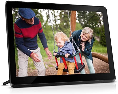 Digital Picture Frame WiFi 10 Inch Digital Photo Frame IPS Touch Screen HD Display Electronic Picture Frames, 8GB, Auto-Rotate, Slideshows, Share Photos by means of App, Email, Twitter, Facebook (Black)