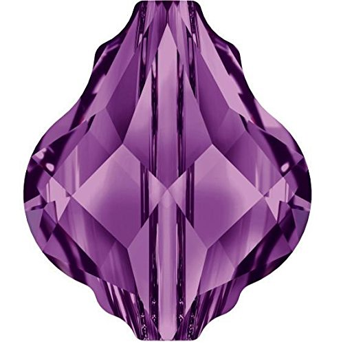 5058 Swarovski Crystal Beads Baroque | Amethyst | 10mm - Pack of 4 | Small & Wholesale Packs ()