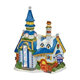 Department 56 North Pole New Year's Eve Center Village Lit Building, Multicolor