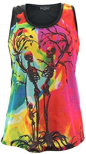 Cold Heart Clothing - Camiseta sin mangas - Tirantes - Sin mangas - para mujer Multicoloured